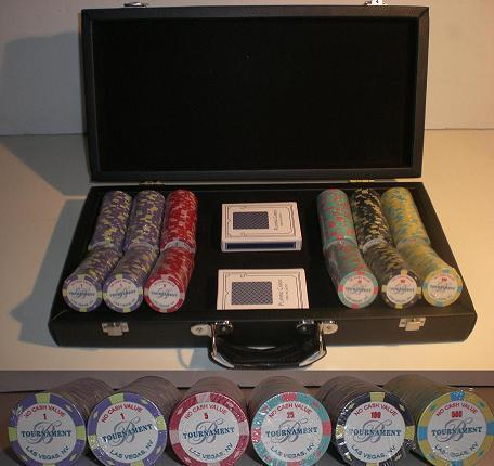 300 Ceramic poker chips set Bellagio 2007
