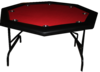 Octagonal Foldable Poker Table red