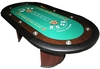 Mesa Casino oval Texas Hold'em Poker verde