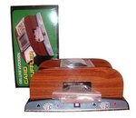 Wooden 2-deck card shuffler
