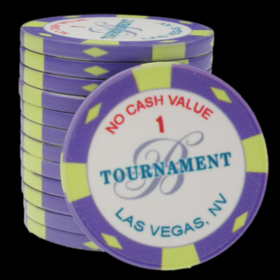 25 Ceramic Poker Chips Bellagio 2007 value 1