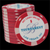 25 Ceramic Poker Chips Bellagio 2007 value 5