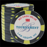 25 Ceramic Poker Chips Bellagio 2007 value 100