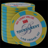25 Ceramic Poker Chips Bellagio 2007 value 500