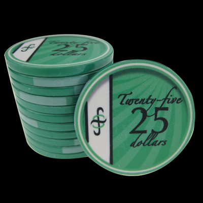 25 Ceramic Poker Chips B-Class value 25