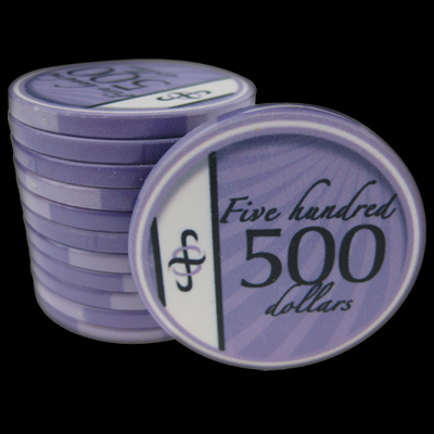 25 Ceramic Poker Chips B-Class value 500