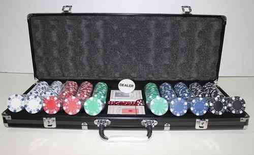 500 black poker chips set Dice