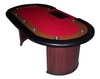 Deluxe Poker Table red 9 players + dealer