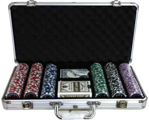 300 black poker chips set EPC