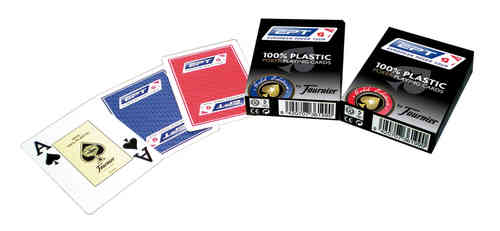 Fournier 100% Plastic Poker Cards EPT Red Jumbo