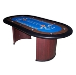 Mesa Casino oval Texas Hold'em Poker azul
