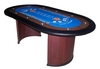 Table Casino ovale Texas Hold'em bleue