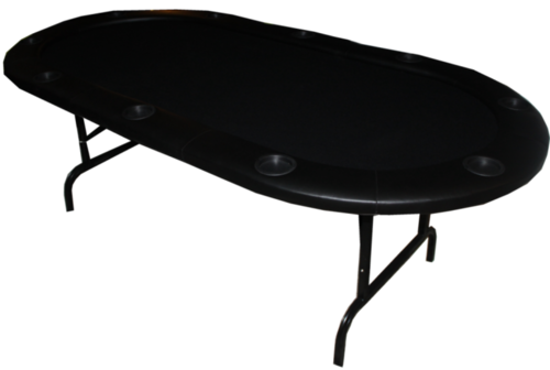 Mesa de Poker plegable oval negra
