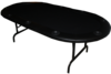 Oval Foldable Poker Table black