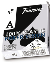 Fournier 100% Plastic Poker Cards Low Vision Blue