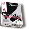 Fournier 100% Plastic Poker Cards Low Vision Red