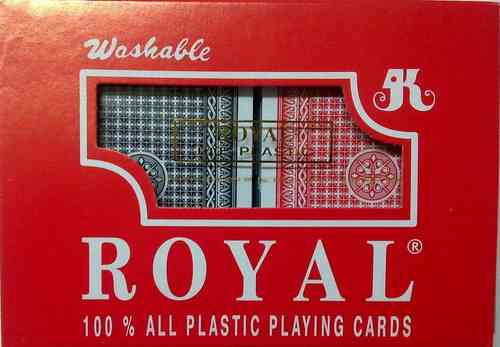 Royal 100% Plastic Playing Cards Red/Blue