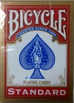 Cartes plastifiées Bicycle Standard rouge