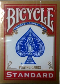 Bicycle traditional paper cards red