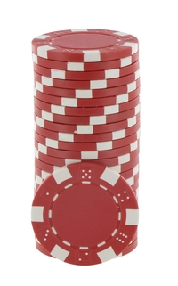 Rolls of 25 Red Dice Poker Chips