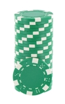 Rolls of 25 Green Dice Poker Chips