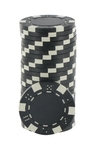 Rolls of 25 Black Dice Poker Chips