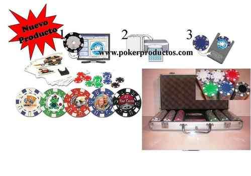 Chip Customizer + 300 poker chips set Dice