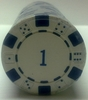 Rolls of 25 Dice Poker Chips value 1