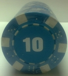 Rolls of 25 Dice Poker Chips value 10