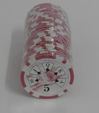 Rolls of 25 Royal Straight Poker Chips value 5