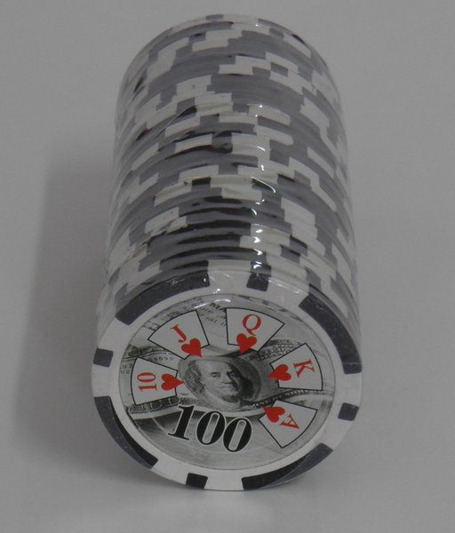 Recargas 25 Fichas Poker Royal Straight valor 100