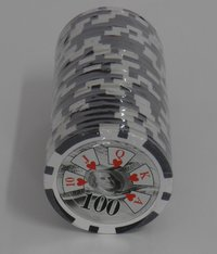 Rolls of 25 Royal Straight Poker Chips value 100
