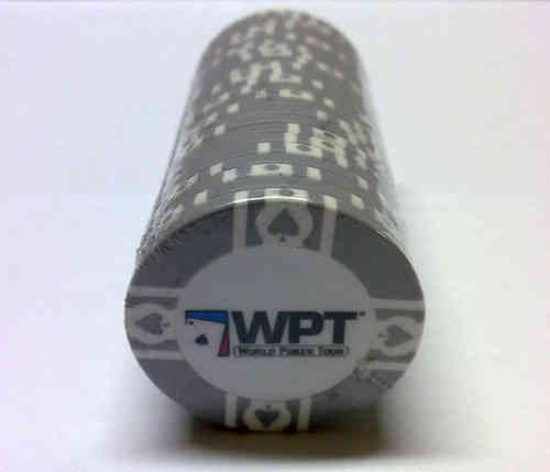 25 Grey WPT Clay Chip
