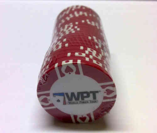 25 Red WPT Clay Chip