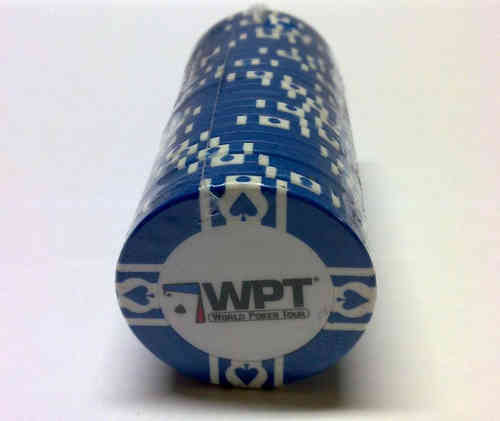 25 Blue WPT Clay Chip