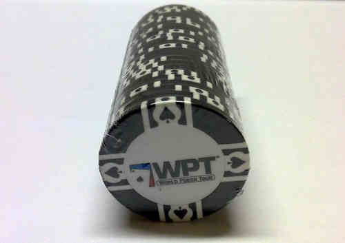 25 Black WPT Clay Chip