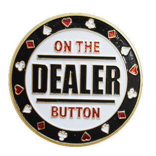 Card Guard On The Dealer Button Dorado