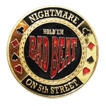 Card Guard Bad Beat dourado