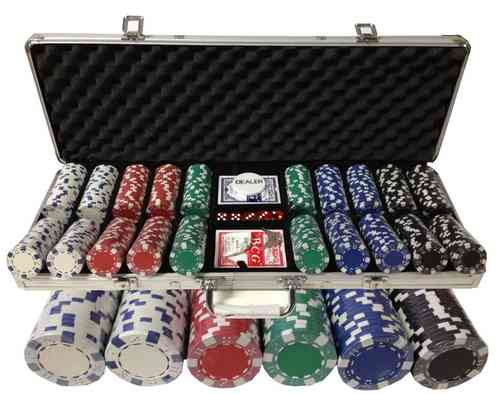 500 poker chips set Dice
