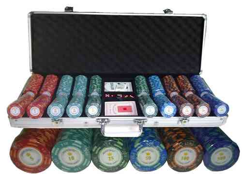 500 poker chips set Clay Montecarlo 1