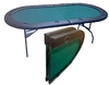 2 Foldable Oval Poker Table