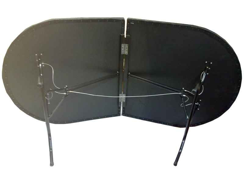 Mesa de poker oval plegable 10 pax for Mesa plegable las palmas
