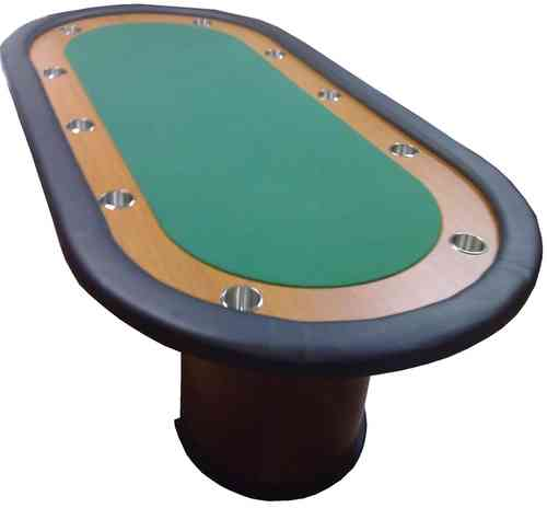 Deluxe Poker Table green 10 players