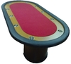 Deluxe Poker Table red 10 players