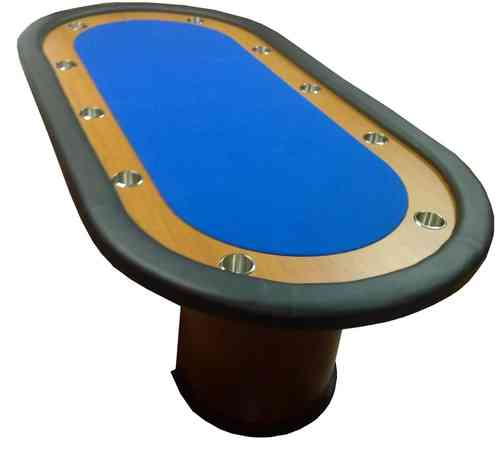 Deluxe Poker Table blue 10 players