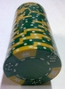 Fichas de Poker Clay CROWN verde
