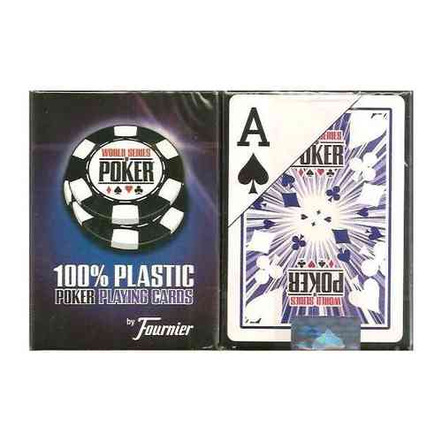 Fournier 100% Plastic Poker Cards WSOP Blue Jumbo