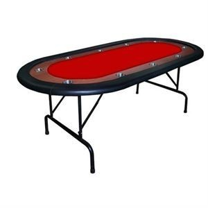 HIGH RANGE Foldable Oval Poker Table red