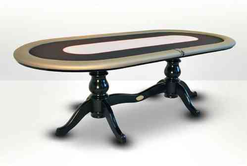 Mesa de Poker oval CAIMAN CLUB gris