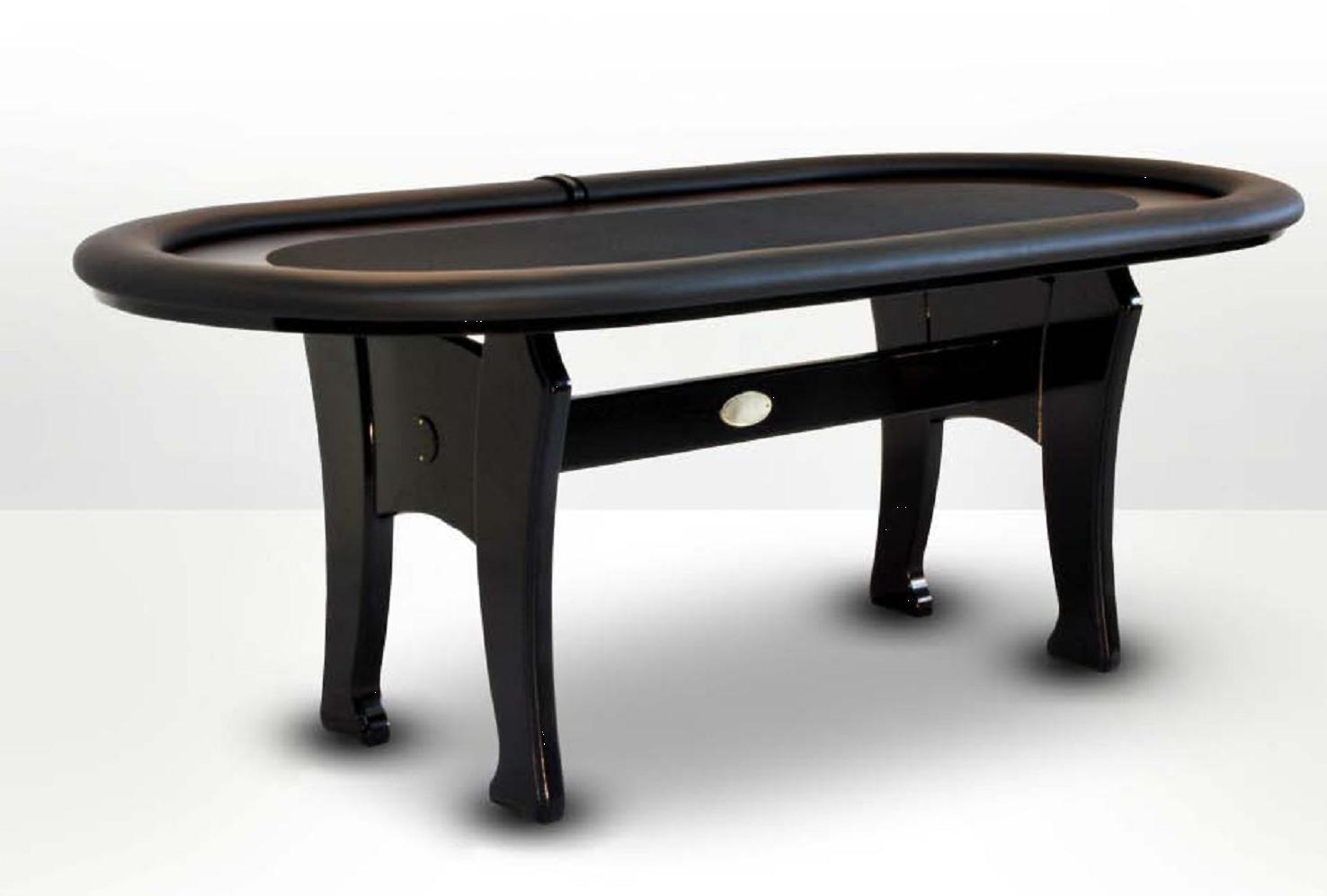 Oval Poker Table black CAIMAN TRADICION - PokerProductos.com